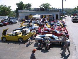 O Z06 é um modelo popular em shows Corvette.