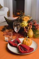 Outono decoração de mesa ideias