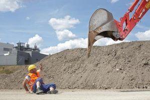 Retroescavadeira escavação técnicas