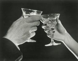 Bebidas do bar dos anos 20 que ruge