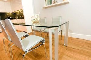Ideias de base para tampos de mesa de vidro