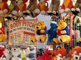 Estandes em feiras com atividades para crianças