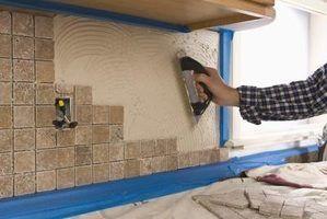 Telha backsplash pode ser instalado diretamente sobre drywall?