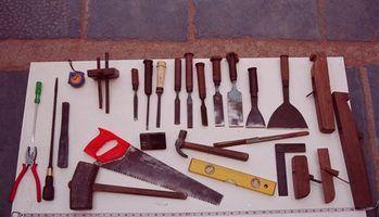 Termos e ferramentas de carpintaria