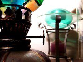 Lâmpadas de óleo antigas comuns