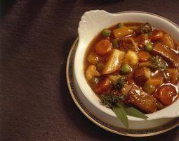 Alimentos complementares para carne bourguignon