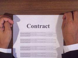 Habilidades de administração de contrato