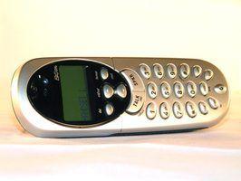 Os telefones sem fio que usam pilhas aa