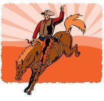 Jogos vaqueiro do rodeio para crianças