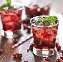 Bebidas cranberry feito com gin