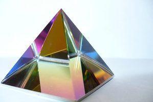 Prismas de cristal que produzem os melhores arco-íris