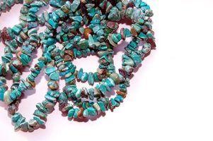 Diferentes tipos de pedras de turquesa