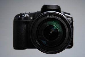 Câmera digital utiliza para uma lente minolta