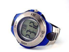 instruções de relógios de pulso digitais