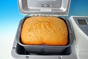 Instruções para usar uma mistura de pão em uma máquina de pão