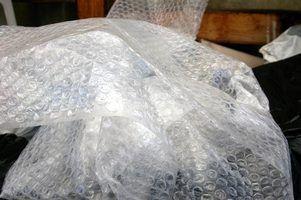 Desvantagens de plástico bolha