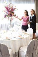 Idéias elegantes para centrais para um almoço de senhoras