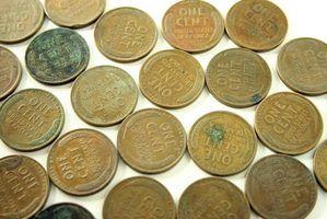 Erros em moedas de um centavo de trigo de 1940