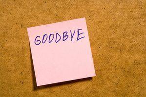 inscrições de despedida pode ser usado para evocar sensibilidade durante uma despedida casual.