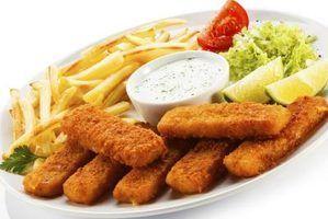 Alimentos para comer com varas de peixes