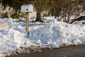 Orientações sobre a remoção de neve e entrega de correio