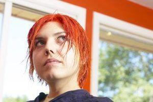 Pontas de pulverização cor do cabelo