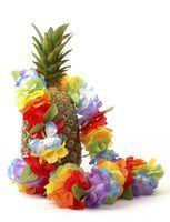 Atividades divertidas para as crianças com um tema havaiano
