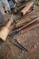 madeira caseiro ferramentas de tornear