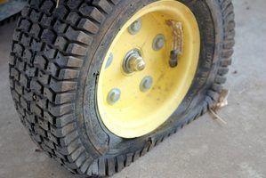 Como faço para reparar um pneu furado?