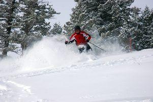 Como ajustar ligações de esqui