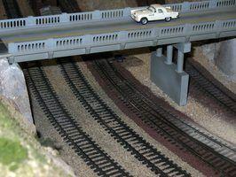 Como anexar um trilho de trem escala ho à madeira