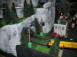 Como construir túneis de espuma para os trens do modelo escala ho