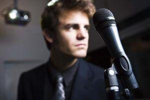 Como limpar a distorção de um microfone