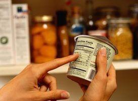 Um gráfico de fatos de nutrição fará nutrição monitoramento rápido e fácil.