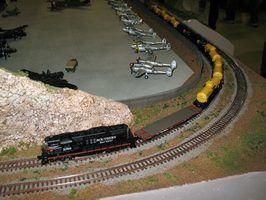 Como cola grama para um layout de modelo de trem