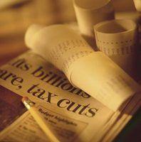 Um artigo de jornal contém partes específicas.