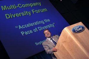 apresentações do PowerPoint são uma característica familiar em conferências.