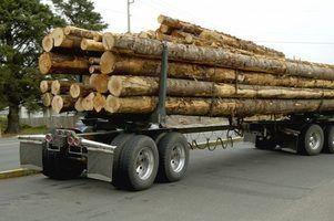 Como carregar um caminhão log
