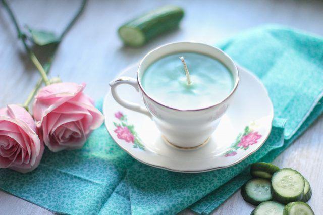 Como fazer uma vela xícara de chá