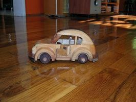 Como fazer uma roda de carro de brinquedo & eixo