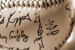 Como saber se um basebol autografado não é um selo?