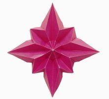 Como fazer origami de Natal Estrelas da árvore