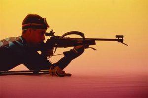 estandes de tiro Rifle também pode ser usado para a prática de alvo.