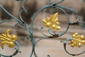 Como pintar uma cama de ferro ouro antigo