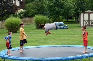 Como colocar um trampolim em uma inclinação