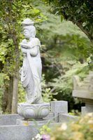 Como remover mofo em uma estátua de jardim