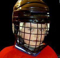 Como substituir a gaiola em um capacete de hóquei bauer