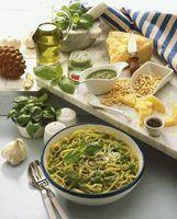 Como servir pesto com espaguete