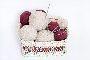 Como suavizar a cabo em agulhas de tricô circular