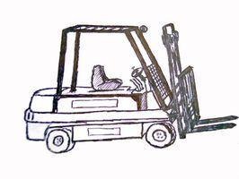 Como transportar uma empilhadeira